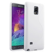 Insten® S Shape Rubber Cover Case for Samsung Galaxy Note 4, White (1957983)