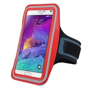 Insten® Handsfree Sports Armband Case for Apple iPhone 6/6S Plus, Samsung Galaxy Note 3 and 4 Red (2037115)
