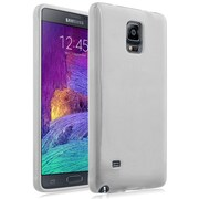 Insten® TPU Case for Use with Samsung Galaxy Note 4, White (1957981)