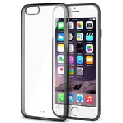 Insten® Bumper Rubber Case for Use with Apple iPhone 6, Clear/Black (1970071)