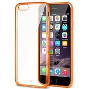 Insten® Bumper Rubber Cover Case for Apple iPhone 6 Plus Clear/Orange (1980322)
