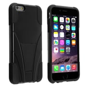 Insten® Hard Dual Layer Plastic Silicone Case with Stand for Apple iPhone 6 Plus Black (1938926)