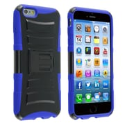 Insten® Advanced Armor Hard Dual Layer Plastic Silicone Cover Case w/Stand/Holster for Apple iPhone 6 Plus, Black/Blue (1937659)