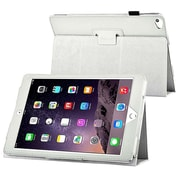 Insten® 1991108 Folio Leather Fabric Case with Stand for Apple iPad Air 2 White