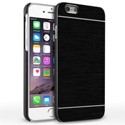 Insten® Hard Metallic Case for Use with Apple iPhone 6, Black (1990894)