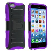 Insten® Dual Layer Plastic Silicone Cover Case with Stand and Holster for Apple iPhone 6 Plus Black/Purple (1937656)