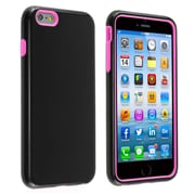 Insten® Verge Hard Hybrid Rubber Coated Silicone Cover Case with Holster for Apple iPhone 6 Plus Black/Pink (1936393)