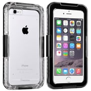 Insten® Hard Plastic Waterproof Case Lanyard for Apple iPhone 6 Clear/Black (2062483)