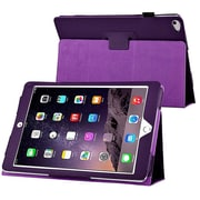 Insten® 1991105 Book-Style Leather Fabric Case with Stand for Apple iPad Air 2 Purple