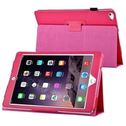 Insten® 1991109 Book-Style Leather Fabric Case with Stand for Apple iPad Air 2 Hot Pink