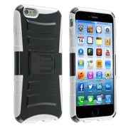 Insten® Advanced Armor Hard Hybrid Plastic Silicone Cover Case with Stand/Holster for Apple iPhone 6 Plus Black/White (1937653)