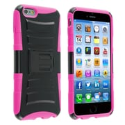Insten® Advanced Armor Hard Dual Layer Plastic Silicone Case with Stand/Holster for Apple iPhone 6 Plus Black/Pink (1937658)