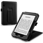 "Insten® 1991060 Book-Style Leather Fabric Case with Stand for Amazon Kindle Voyage 6"" (2014) Black"