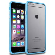 Insten® Rubber Bumper for Apple iPhone 6 Plus, Clear Blue (1956275)