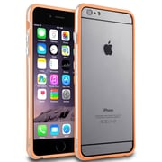 Insten® Aluminum Button TPU Bumper for Use with Apple iPhone 6 Plus, Orange/Clear (1955550)