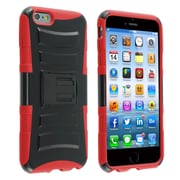 Insten® Advanced Armor Hard Hybrid Plastic Silicone Case with Stand and Holster for Apple iPhone 6 Plus, Black/Red (1937655)