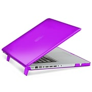 "Insten® Hard Rubber Cover Case for Apple Macbook Pro 15"", Purple (1991121)"