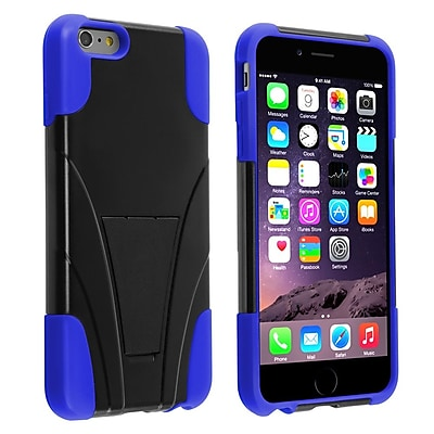 Get Insten Hard Dual Layer Plastic Silicone Case with Stand for Use for Apple iPhone 6 Plus, Black/Blue (1938927) Before Too Late