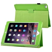 Insten® 1991106 Leather Fabric Folio Cover Case with Stand for Apple iPad Air 2, Green