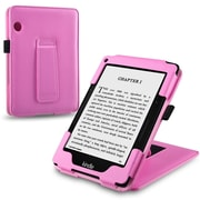 "Insten® 1991061 Book-Style Leather Fabric Case with Stand for Amazon Kindle Voyage 6"" (2014) Pink"