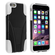 Insten® Hard Dual Layer Plastic Silicone Case with Stand for Apple iPhone 6 Plus Black/White (1938932)