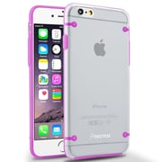 Insten® TPU Cover Case for Use with Apple iPhone 6, Clear/Hot Pink (1963256)