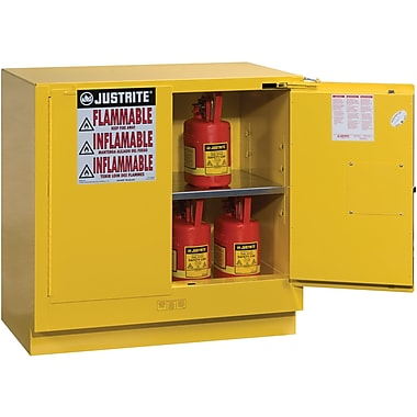 Justrite® Undercounter Sure-Grip® Ex Safety Cabinets, 2 Doors, Undercounter, 22 Gal, H