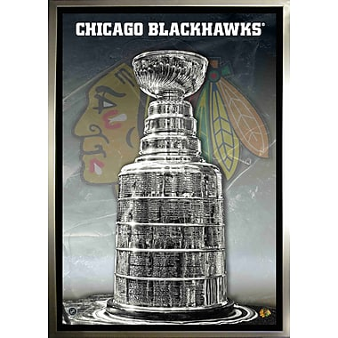 Chicago Blackhawks Unsigned Framed, Canvas, Stanley Cup, 24