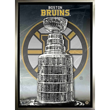 Boston Bruins Unsigned Framed Canvas, Stanley Cup, 24
