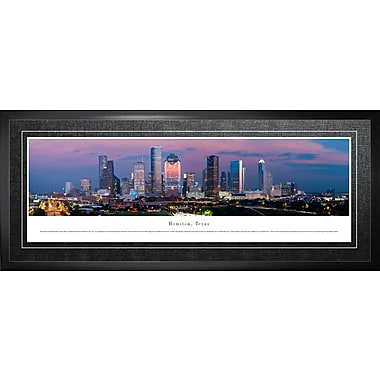 Houston, TX Framed, Panorama Night, 21
