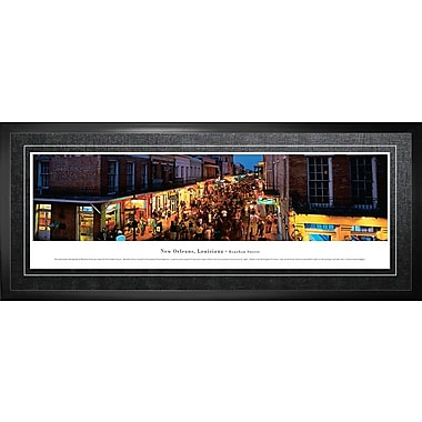 New Orleans, LA Framed, Panorama Bourbon Street, 21
