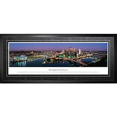 Pittsburgh, PA Framed, Panorama Night, 21