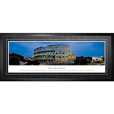 Rome, Italy Framed, Panorama Coliseum, 21
