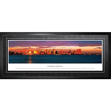 San Diego, CA Framed, Panorama Night, 21