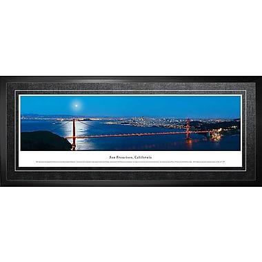 San Francisco, CA Framed, Panorama Night, 21