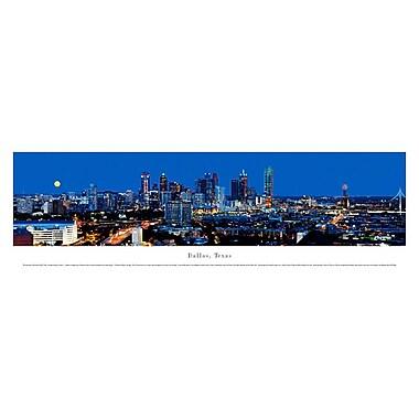 Dallas, TX Panorama Plaque, Night, 13.5