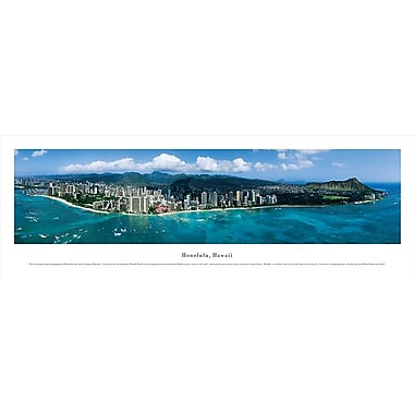 Honolulu, HI Panorama Plaque, Day, 13.5