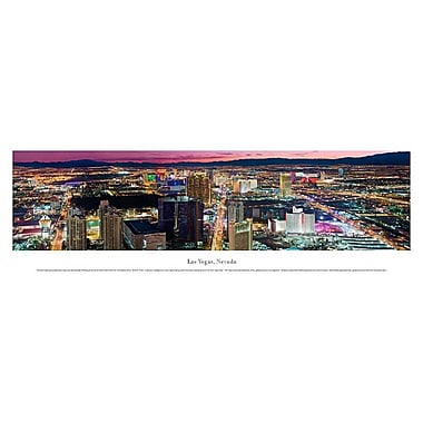 Las Vegas, NV Panorama Plaque, Night, 13.5