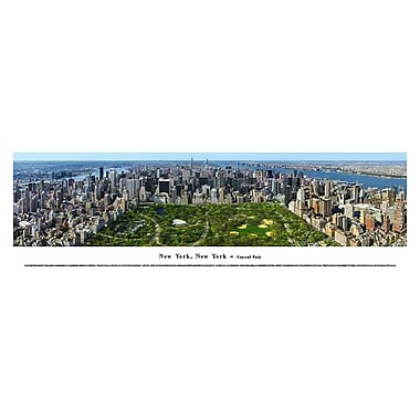 New York, N Panorama Plaque, Central Park, 13.5