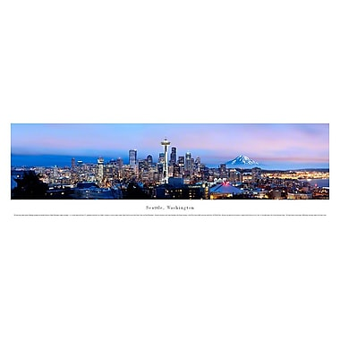 Seattle, WA Panorama Plaque, Night, 13.5