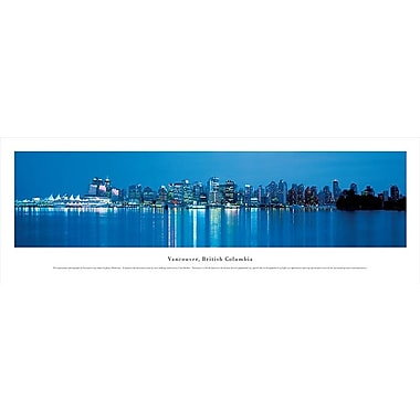 Vancouver, BC Panorama Plaque, Night, 13.5