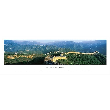 Great Wall Of China Panorama Plaque, Day, 13.5