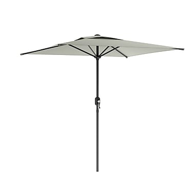 CorLiving PPU-330-U Square Patio Umbrella, Sand Gray