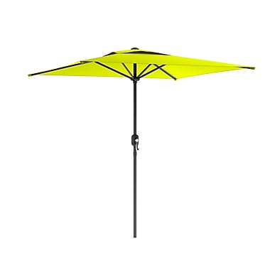 CorLiving PPU-340-U Square Patio Umbrella, Lime Green