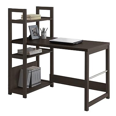 CorLiving WFP-580-D Folio Bookshelf Styled Desk, Black Espresso