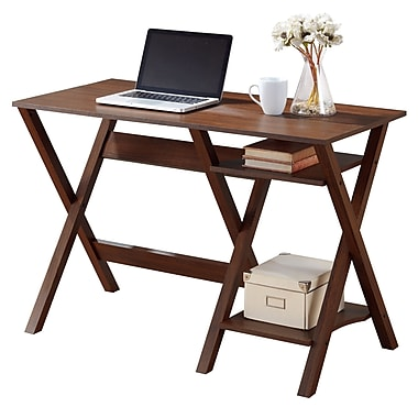 CorLiving WFP-620-D Folio Desk with Two Lower Shelves