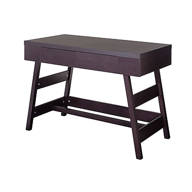 CorLiving WFP-970-D Folio Two Drawer Desk, Modern Wenge