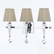 AF Lighting Margo 3-Light Vanity, Cream Shade (82023W)