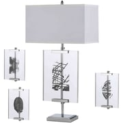 AF Lighting Easel Table Lamp with Interchange Panels (8316TL)