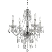 AF Lighting Naples Four Light Mini Chandelier, Clear (83504H)